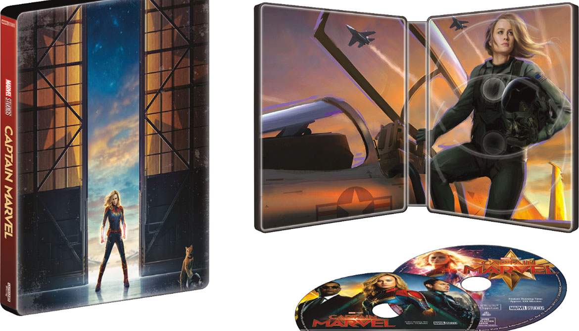 Captain Marvel Collectible Steel Book | Available at Best Buy