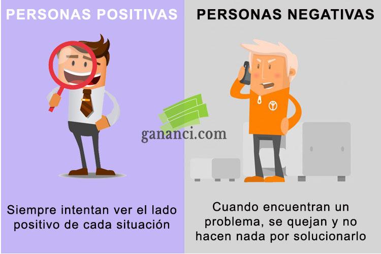 Diferencias entre gente positiva y negativa