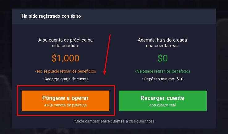 Opciones binarias con cuenta demo gratuita