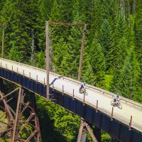 Route of the Hiawatha Scenic Bike Trail in Western Montana.