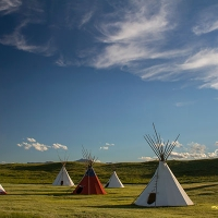 Lodgepole Gallery & Tipi Village in Western Montana.