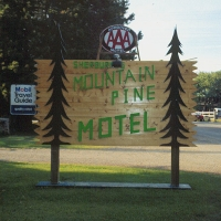 Mountain Pine Motel in Western Montana.