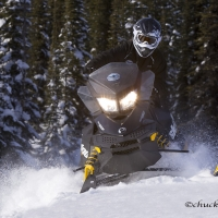 Swan Mountain Snowmobiling in Western Montana.