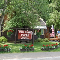 Apgar Village Lodge in Western Montana.