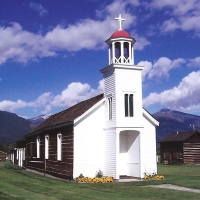 Historic St. Mary's Mission Inc. in Western Montana.