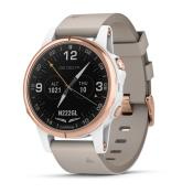 D2 Delta S Aviator Watch with Beige Leather Band