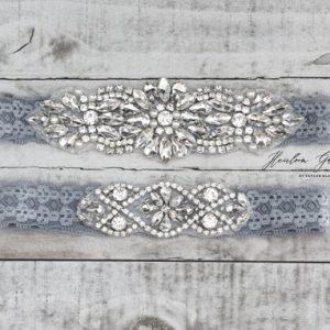 Floral Wedding Garter Set NO SLIP grip vintage rhinestones bridal garter elegant wedding garter set WHITE C104-C104