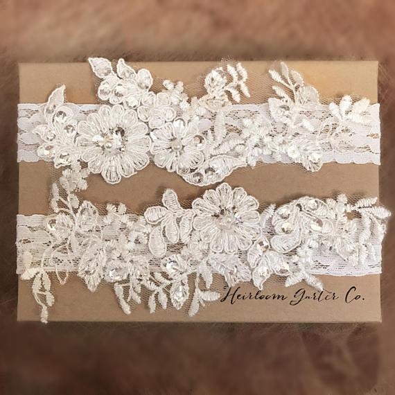 Simple Lace Floral Garter