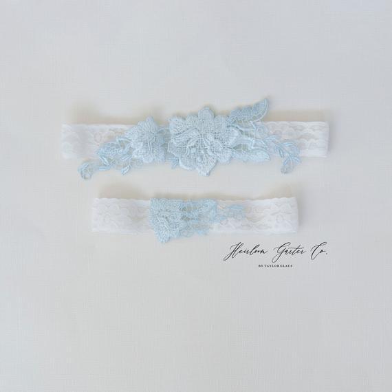Blue Garter Lace Garter Bridal Garter Set Wedding Garter Wedding Garter Set Blue Wedding Garter Garter Garter Set