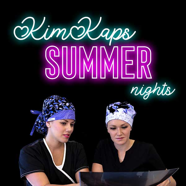 Summer Nights Scrub Hats Now Available