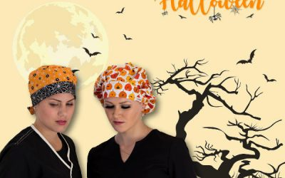 Halloween Surgical Scrub Hats by KimKaps