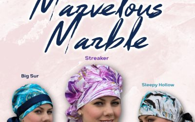 Marvelous Marble Surgical Scrub Caps