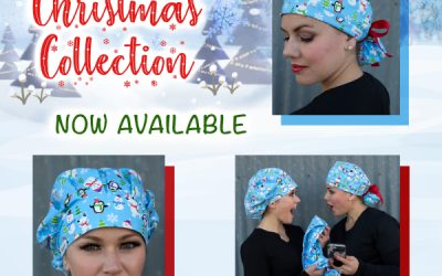 Christmas Surgical Scrub Hats by KimKaps