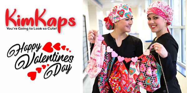 Valentines Day Themed Scrub Hats Now Available