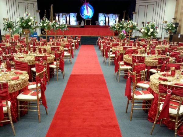 Red Aisle Runner for Weddings