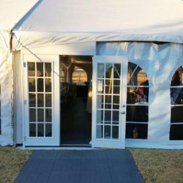 tent-french-door-entrance-rental-texas