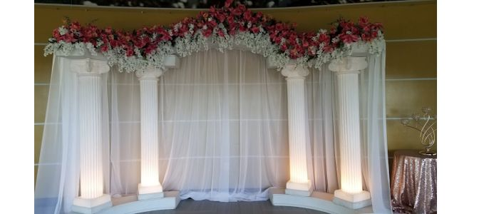 Wedding column rental