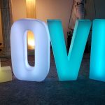 lighted love letters for rent