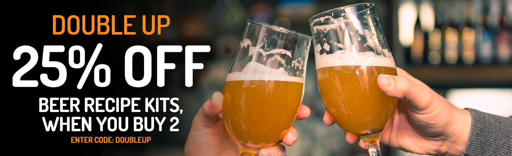 Save 25% Off Beer Kits When You Buy 2