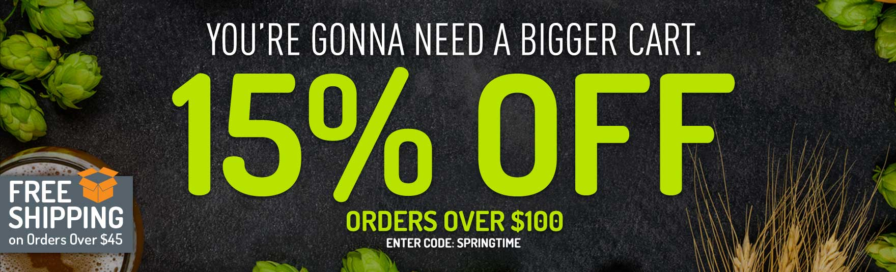 15% Off Orders Over $100