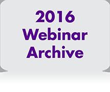 2016 Webinar Archive copy