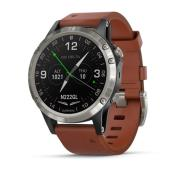 D2 Delta Aviator Watch w/ Brown Leather Band