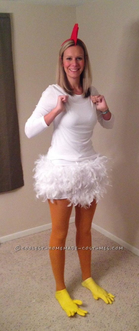 dress up as a chicken