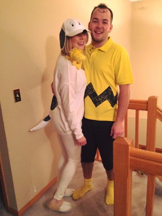 Charlie Brown and Snoopy  sc 1 st  Panda Gossips & 40 Cheap Easy And Simple DIY Halloween Costumes For Couples