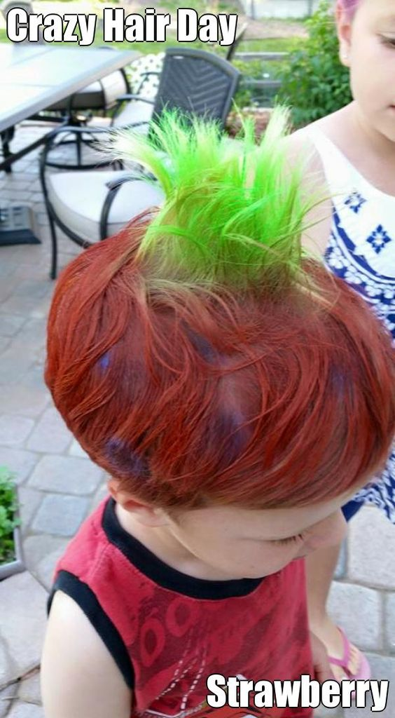 Coloring for Kids hair color spray for kids : 50 (Easy) Crazy Hair Day Ideas For School Boys With Short Hair