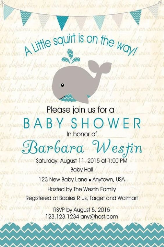 Baby Shower Invitation Wording That S Cute And Catchy