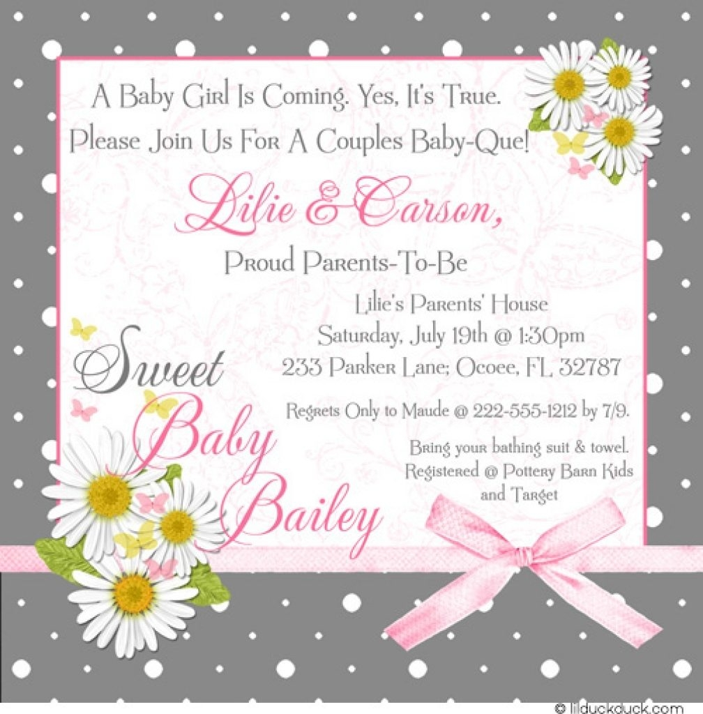 Baby Shower Invitation Wording That's Cute And Catchy
