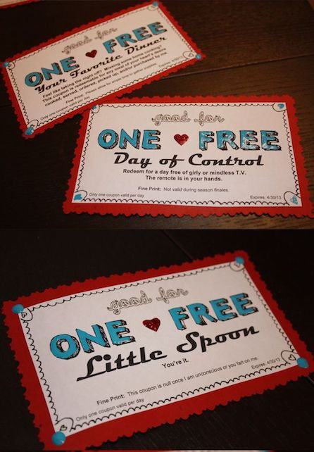 20 Cute Love Coupons For Boyfriend And Girlfriend