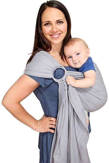 d7b3e5325e9 Amazon.com   Maya Wrap Lightly Padded Ring Sling - Slate - Medium   Child  Carrier Slings   Baby