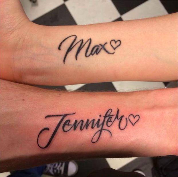 Partners name tattoo