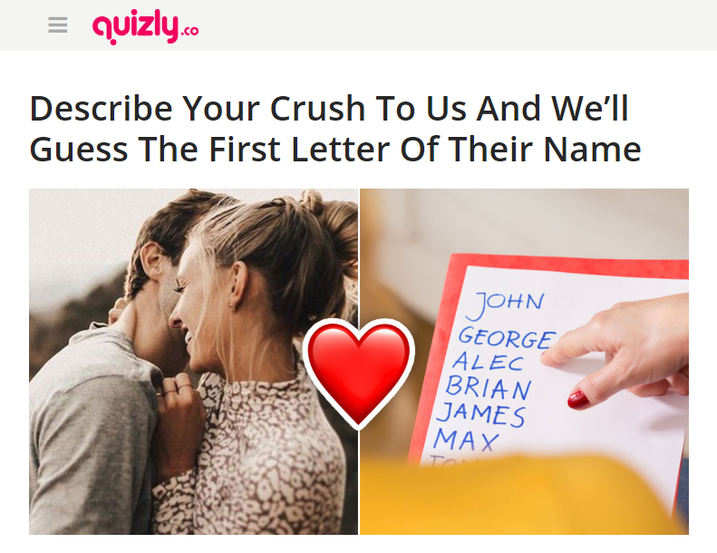 10 Quizzes on Crush - to Check on Everything about Crushes