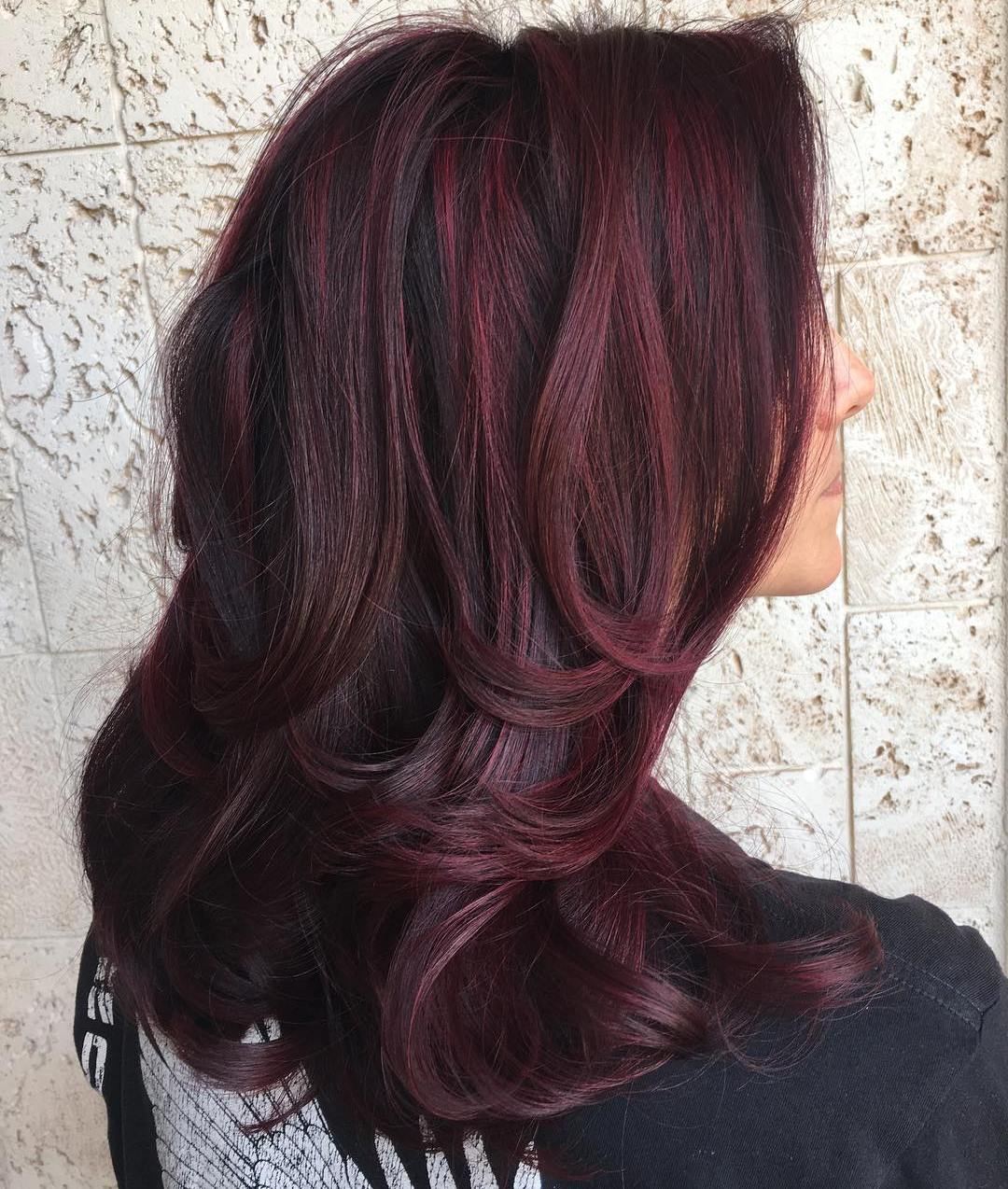 30a4b793808e04 How To Get The Perfect Shade Of Dark Burgundy Brown Hair Color