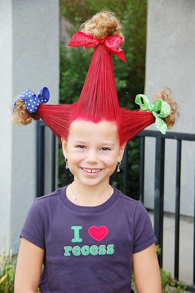 30 Easy Wacky Crazy Hairstyles To Try At School