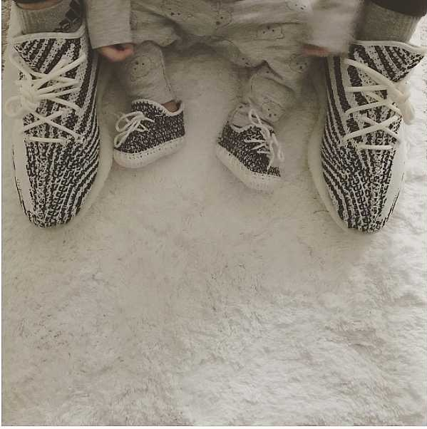 Sport these stylish Baby Yeezys on those baby feet
