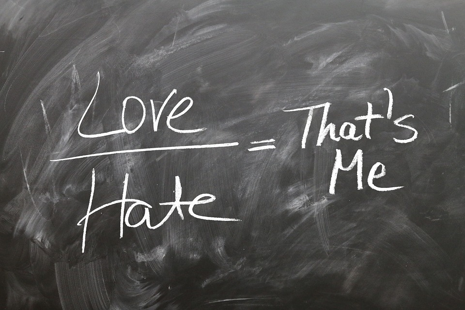 The Difference And Similarities Between Love And Hate