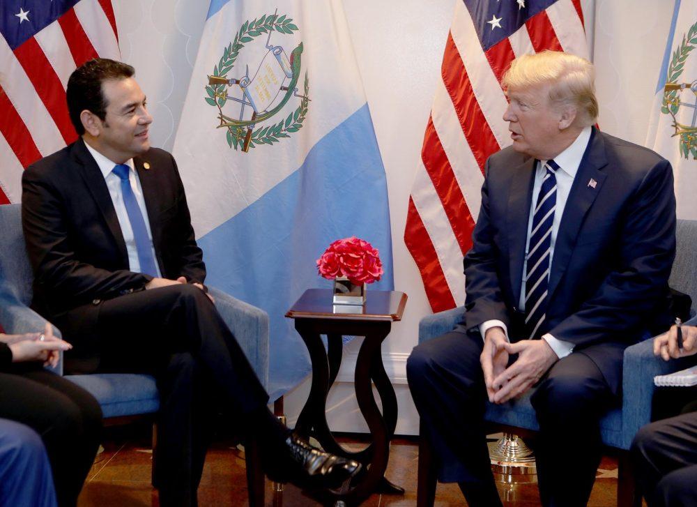 Jimmy Morales visitará EE.UU. para reunirse con Donald Trump