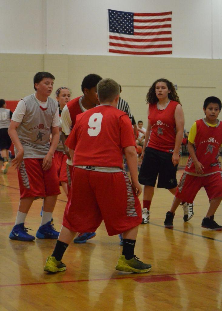 Co-ed youth basketball