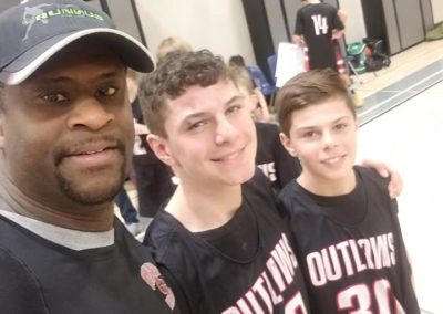 Eddie with Outlaw players
