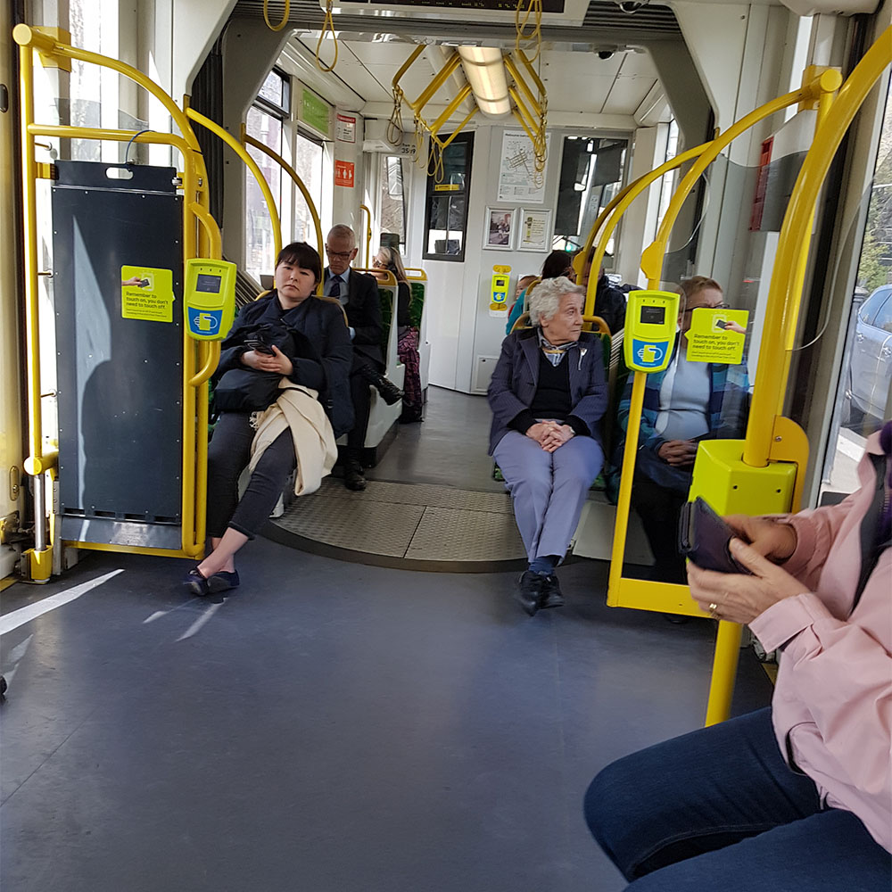 Metro Train Aboveground