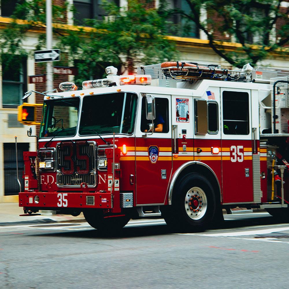 Entering a Fire Truck