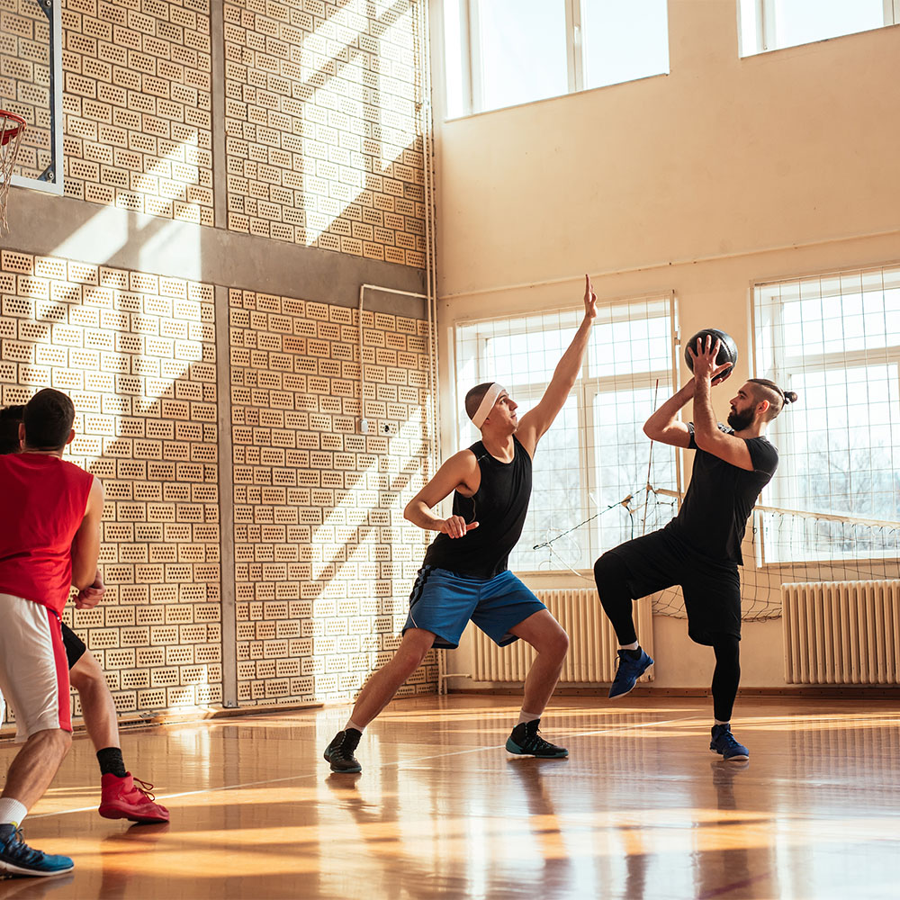 Basketball Players in Practice
