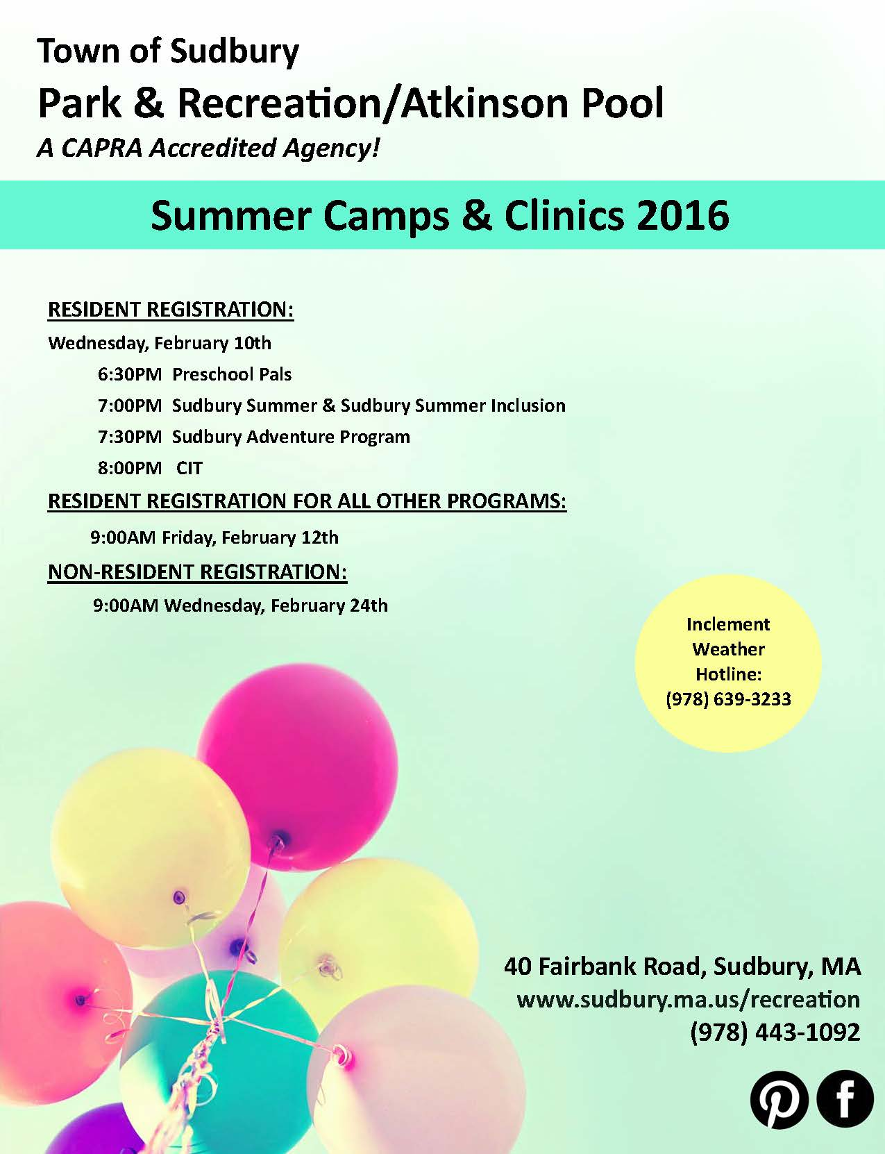 cover letter for summer camp summer camps and clinics brochure park recreation department summer camps and - Recreation Cover Letter
