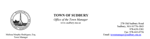 Town Manager Press Release
