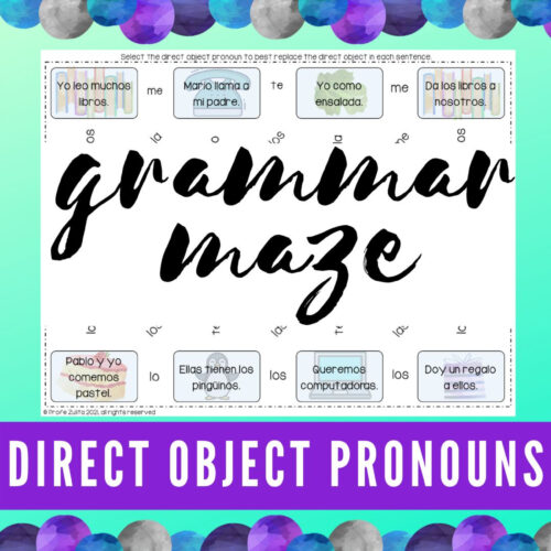 Direct Object Pronouns in Spanish - Maze Activity's featured image