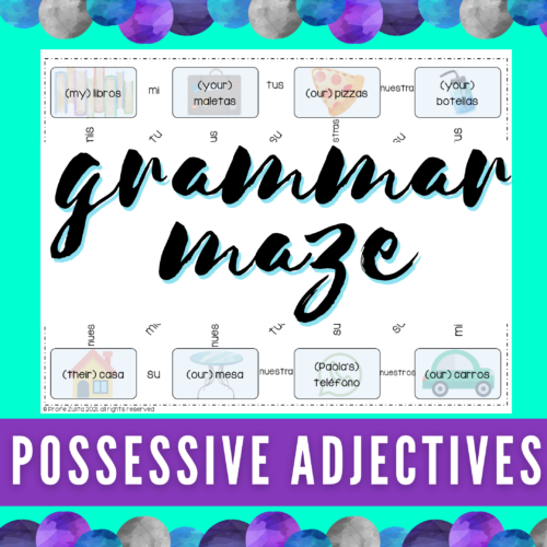 Possessive Adjectives in Spanish - Maze Activity's featured image