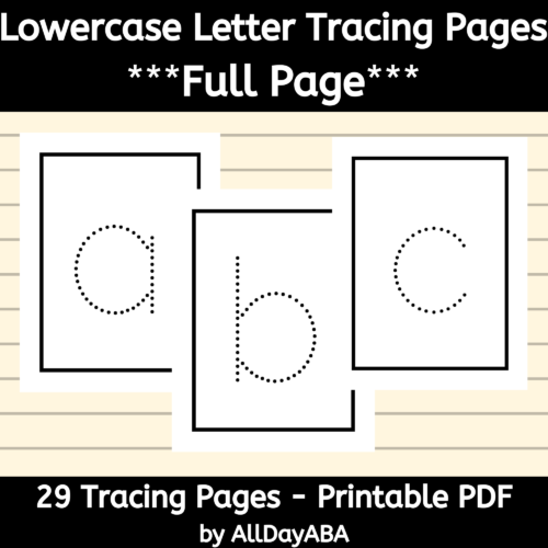 Alphabet Tracing Worksheets - Lowercase Letters - Full Page's featured image